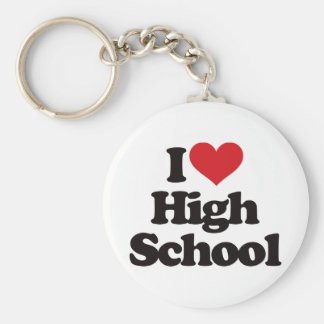 ¡Amo la High School secundaria! Llavero Redondo Tipo Pin