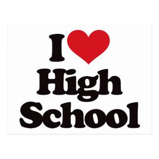 ¡Amo la High School secundaria! Postal