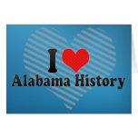 Amo la historia de Alabama Tarjeta