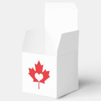 Amo la hoja de arce y el corazón de Canadá Caja Para Regalo De Boda