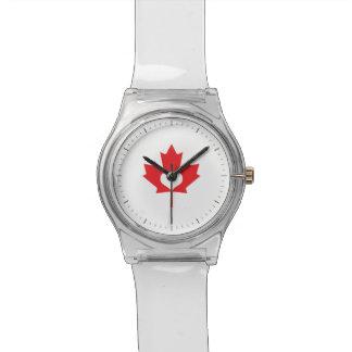 Amo la hoja de arce y el corazón de Canadá Relojes De Pulsera