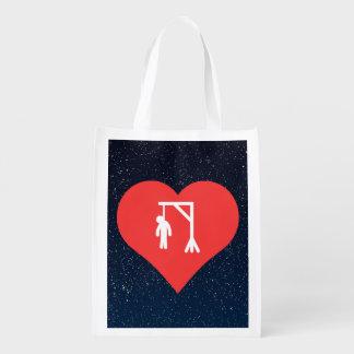Amo la horca bolsa para la compra