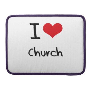 Amo la iglesia funda para macbooks