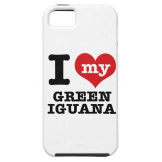 Amo la iguana verde iPhone 5 Case-Mate protector