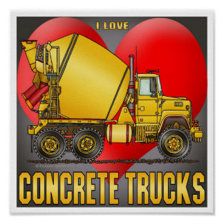 Amo la impresión del poster de los camiones del ho