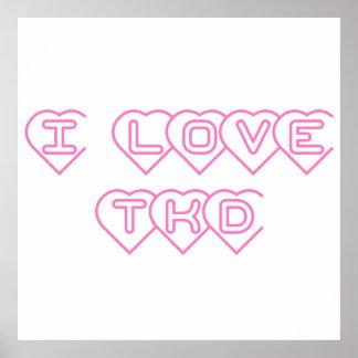 Amo la impresión del poster de TKD