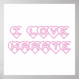 Amo la impresión del poster del karate
