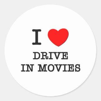 Amo la impulsión en películas pegatinas redondas
