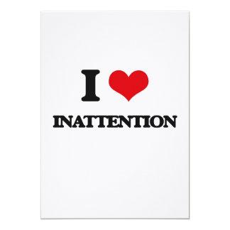 Amo la inatención invitación 12,7 x 17,8 cm