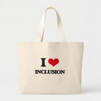 Amo la inclusión bolsas lienzo