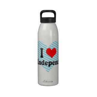 Amo la independencia del este Estados Unidos Botella De Beber