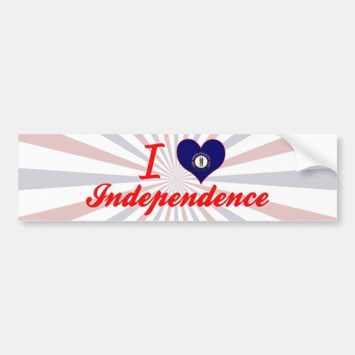 Amo la independencia, Kentucky Pegatina Para Auto