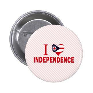 Amo la independencia Ohio Pin