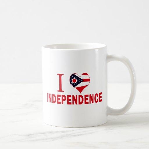 Amo la independencia, Ohio Taza De Café
