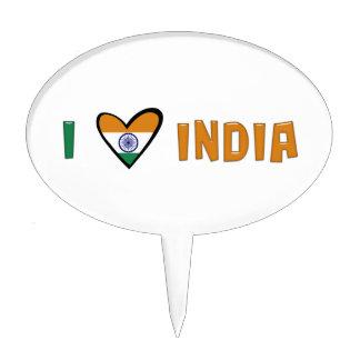 Amo la India Decoración Para Tarta