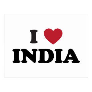 Amo la India Tarjeta Postal