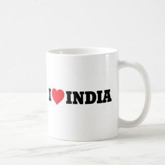 Amo la India Taza Básica Blanca