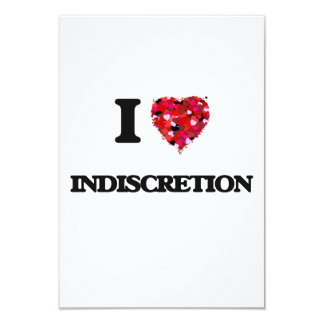 """Amo la indiscreción invitación 3.5"""" x 5"""""""