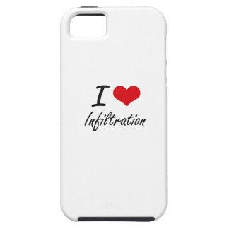 Amo la infiltración iPhone 5 carcasa