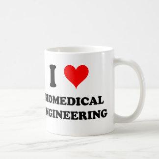 Amo la ingeniería biomédica taza clásica