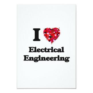 """Amo la ingeniería eléctrica invitación 3.5"""" x 5"""""""