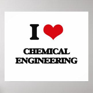 Amo la ingeniería química póster