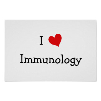 Amo la inmunología póster