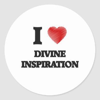 Amo la inspiración divina pegatina redonda