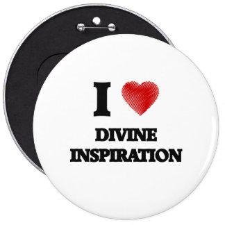 Amo la inspiración divina pin redondo de 6 pulgadas
