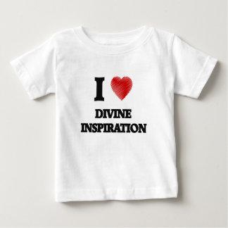 Amo la inspiración divina playera de bebé