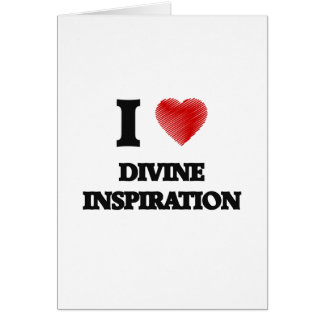 Amo la inspiración divina tarjeta de felicitación