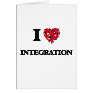 Amo la integración tarjeta de felicitación