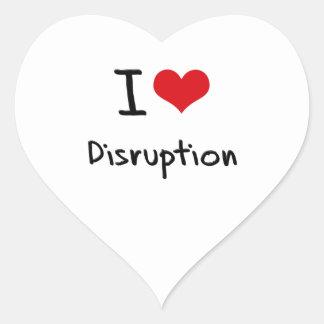Amo la interrupción calcomanías corazones