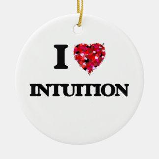Amo la intuición adorno redondo de cerámica