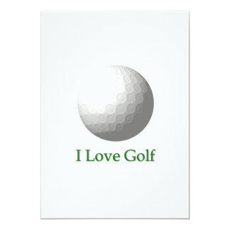 Amo la invitación del golf