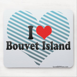 Amo la isla de Bouvet Tapetes De Ratones
