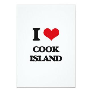 """Amo la isla de cocinero invitación 3.5"""" x 5"""""""