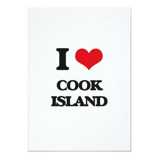 """Amo la isla de cocinero invitación 5"""" x 7"""""""