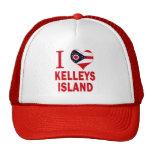 Amo la isla de Kelleys, Ohio Gorro De Camionero