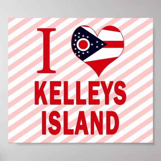 Amo la isla de Kelleys, Ohio Impresiones