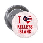 Amo la isla de Kelleys, Ohio Pins