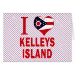 Amo la isla de Kelleys, Ohio Tarjetas