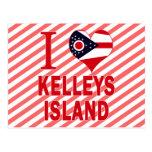 Amo la isla de Kelleys, Ohio Tarjetas Postales
