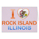 Amo la isla de la roca, IL Felicitacion