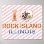 Amo la isla de la roca, IL Poster