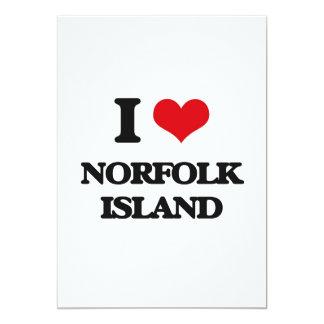 Amo la isla de Norfolk Invitaciones Personalizada