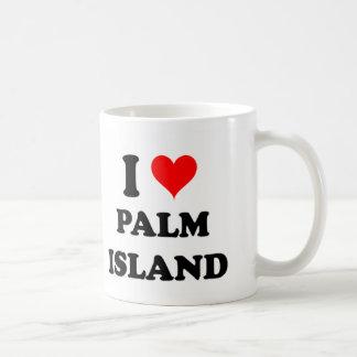Amo la isla de palma la Florida Taza