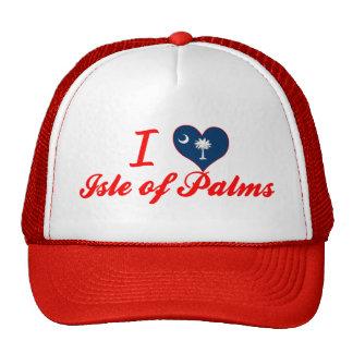 Amo la isla de palmas, Carolina del Sur Gorro