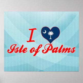 Amo la isla de palmas, Carolina del Sur Impresiones