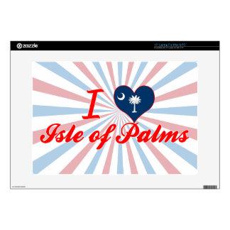 Amo la isla de palmas, Carolina del Sur 38,1cm Portátil Calcomanías